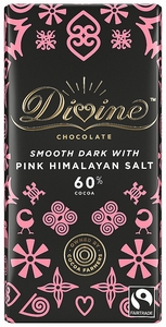 DIVINE Dark Chocolate Pink Himalaya Salt  90 gram