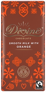 DIVINE Milk Chocolate & Orange  90 gram