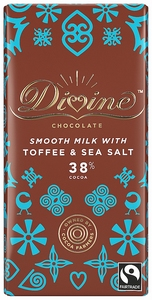 DIVINE Milk Chocolate Toffee & Sea Salt  90 gram
