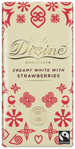DIVINE White Chocolate & Strawberries  90 gram