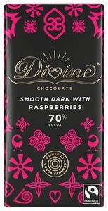 DIVINE Dark Chocolate & Raspberries  90 gram