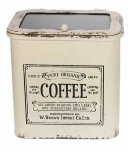 "Koffieblik ""Coffee"" met glazen deksel"