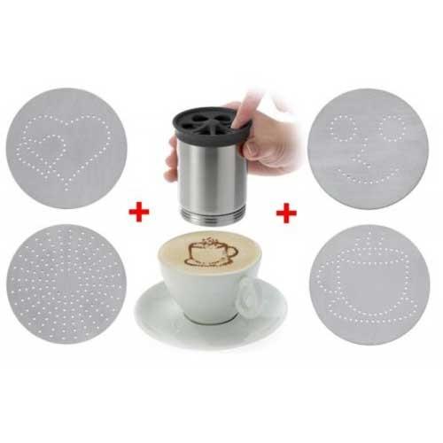 Cappuccino strooier RVS
