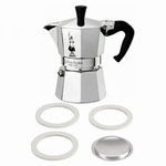 Bialetti Moka Filter & Ring - 4 Kops